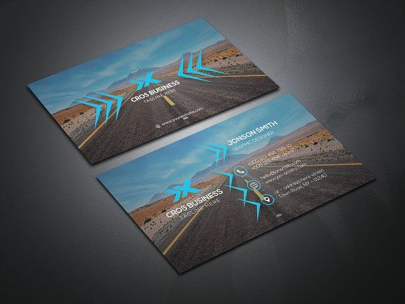 Transport Business Card by Create Art on @creativemarket