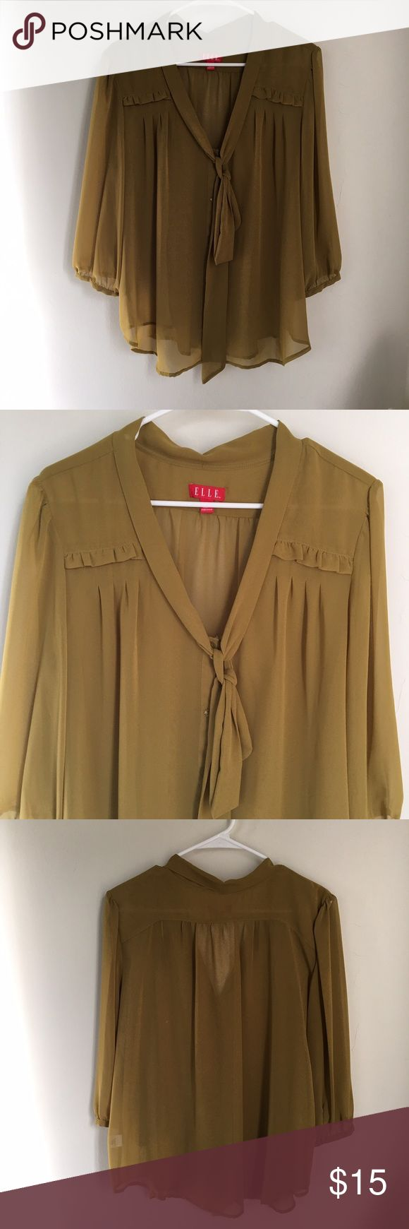 What To Wear Under A Sheer Yellow Blouse 80