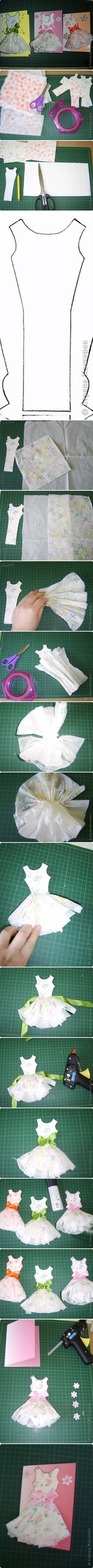 DIY Paper Dress Card Topper dress paper diy easy crafts