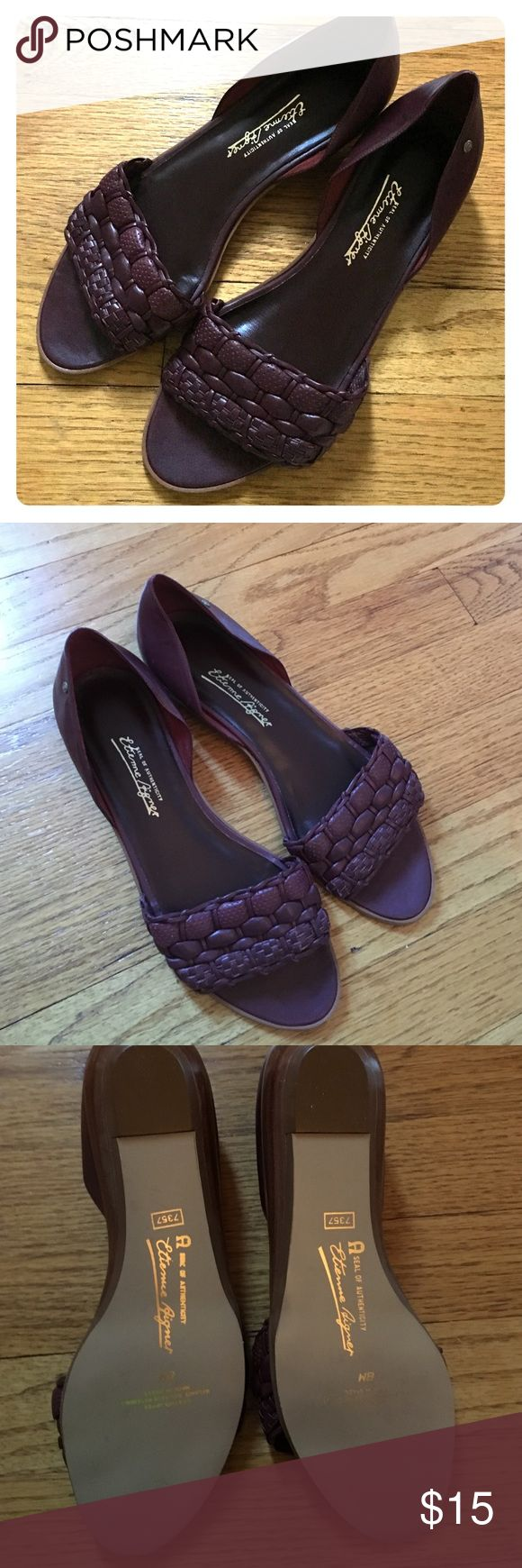 Shoes Etienne Aigner wine flat Sandals These traditional classic Etienne Aigner  wine flat shoes  in like new condition. Authentic! No trades! Etienne Aigner Shoes Flats & Loafers