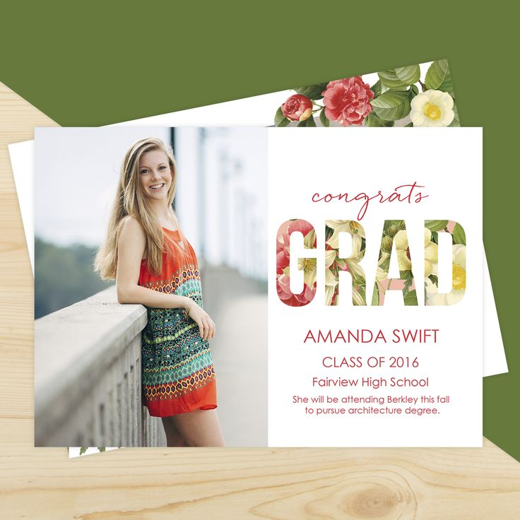 Kaui Bliss | Graduation Announcement Cards by Mpix | Design by @freshbunch | http://www.mpix.com/cards/graduation/graduation-announcements/kauai-bliss