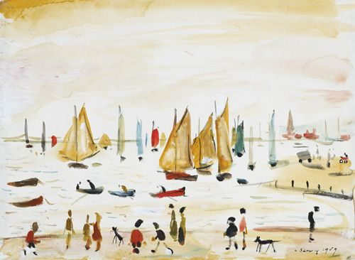 Yachts, 1959 Art Print by L S Lowry at King & McGaw