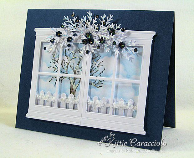 Открытка окно зима своими руками