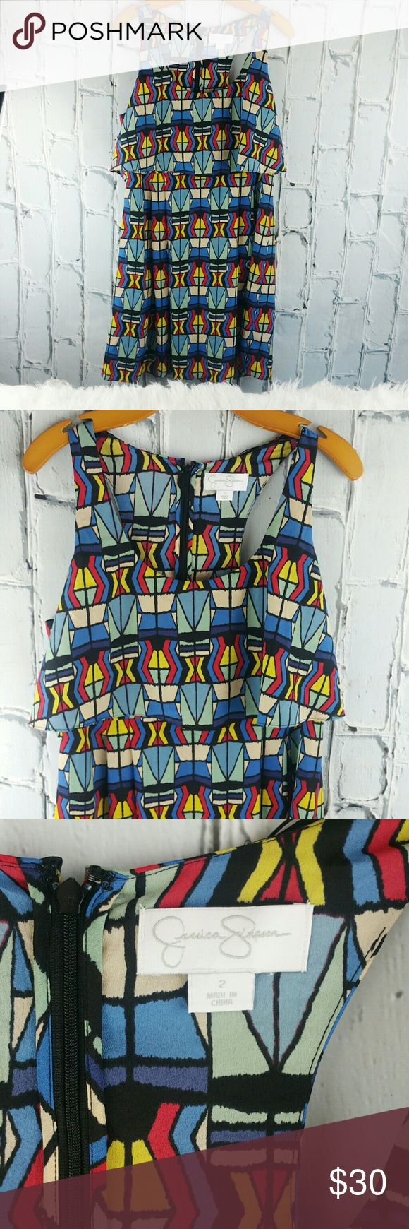 """SALE Jessica Simpson Multi Color Summer Dress Amazing Jessica Simpson Multi Color Summer Dress 37"""" from top of shoulder to bottom 20"""" from armpit to armpit Jessica Simpson Dresses"""