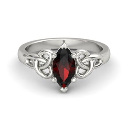 I wish it were in yellow gold.  I would be in love and demand to have it as my engagement ring