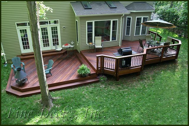 Multi level Ipe deck | Ipe deck with Deckorator Classic balu… | Flickr