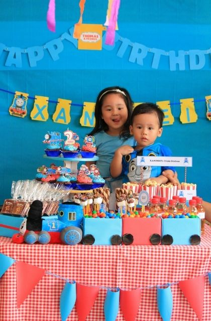"Photo 10 of 14: Thomas the Train party / Birthday ""Thomas Train Birthday Party"" 
