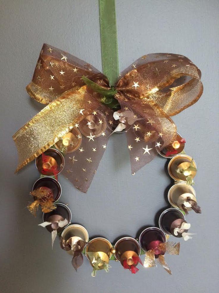Coroa de Natal (Couronne de noel) - Capsulas de Nespresso