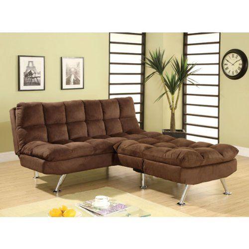 Aristo 2 Piece Microfiber Finish Sofa Futon Set