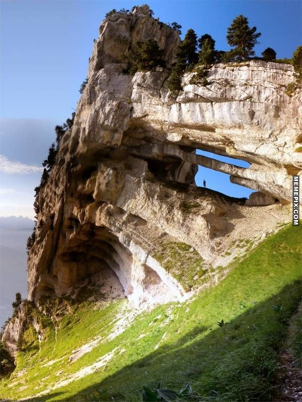 Chartreuse Arch in the French Alps - MemePix