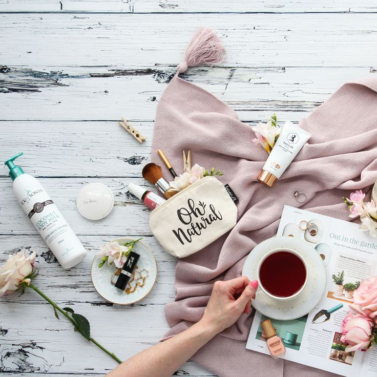 Time for a relaxing cup of tea  Love this cozy, relaxing shot from a recent shoot with @ohnatural, this is pretty much me right now minus the amazing selection of natural beauty products.