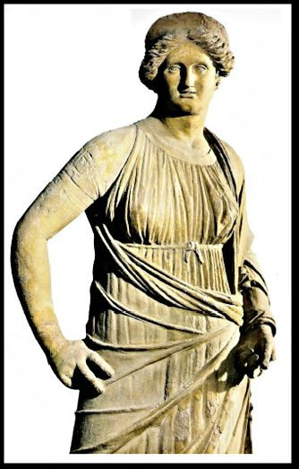 Women's Roman Costuming Images. Looks like a stola over some sort of short sleeved tunica.