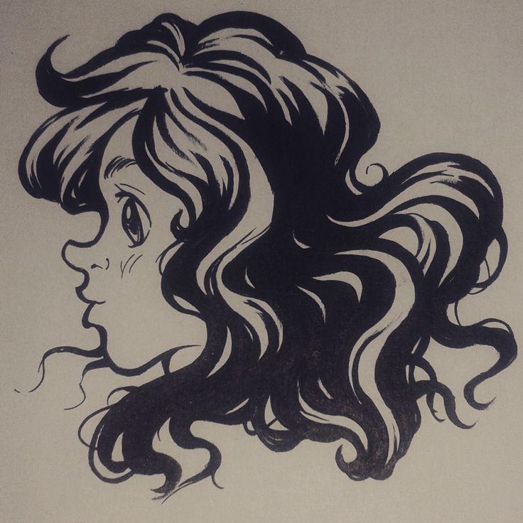 """Ink Practice """"Hair"""""""