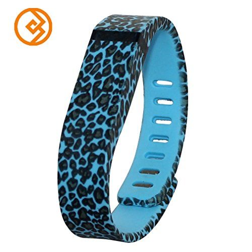 Bandcase New Style Lepoad Set Size Large L or Size Small S Multicolor Leopard Combinational Replacement Bands with Metal Clasps for Fitbit Flex Only No Tracker/ Wireless Activity Bracelet Sport Wristband Fit Bit Flex Bracelet Sport Arm Band Armband