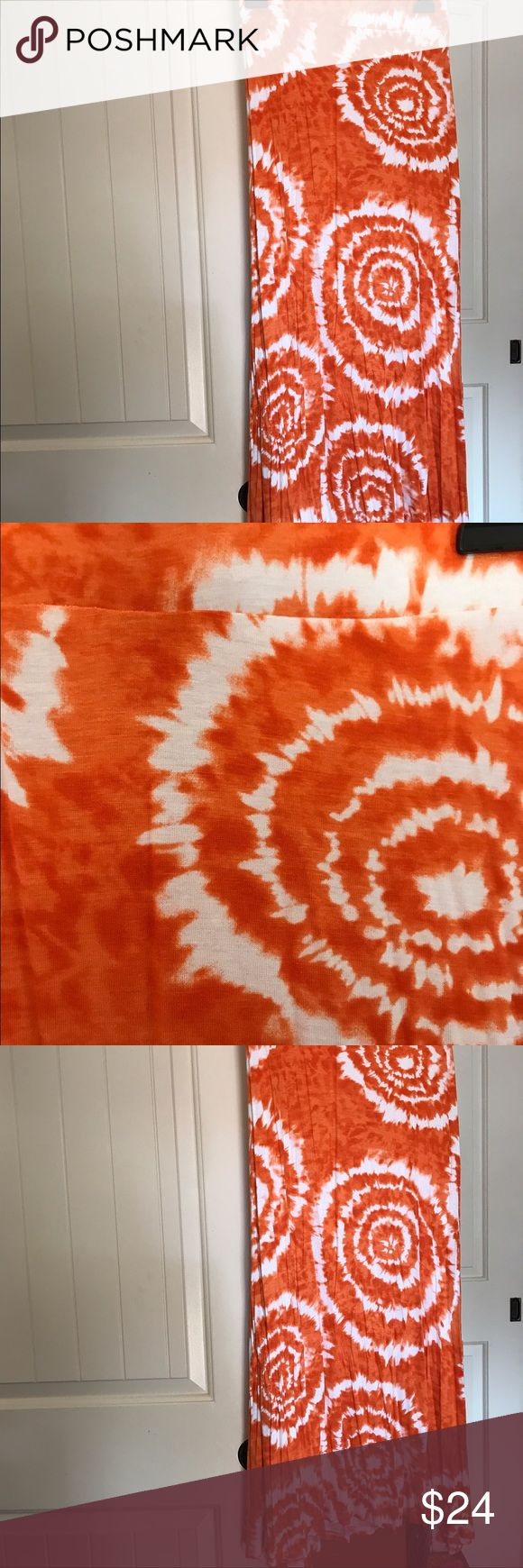 🎉🌈Sale!!!!  Tie dye orange maxi skirt NWOT!!!! Really soft never worn whispers Skirts Maxi