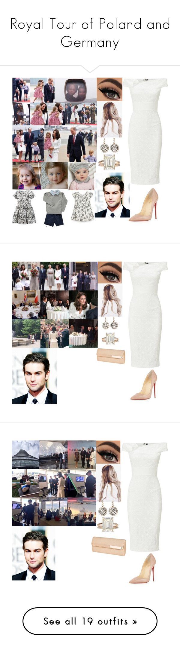 """""""Royal Tour of Poland and Germany"""" by dawn-wales ❤ liked on Polyvore featuring Roland Mouret, Christian Louboutin, Selim Mouzannar, Betteridge, Carter's, Bonpoint, Billini, Rare London, Charlotte Russe and Sara Weinstock"""