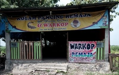 Kolam Pancing Remaja dan Warung Kopi di Nganting Tulangan - Sidoarjo | Travel Jaya
