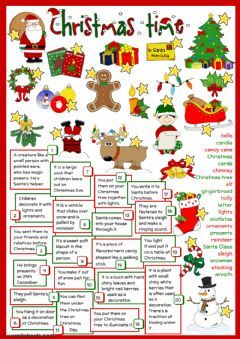 Christmas – definitions Language: English Grade/stage: elementary College topic: English as a Secon…