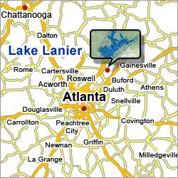 Best Lake Lanier Images On Pinterest Atlanta Georgia And - Georgia map duluth