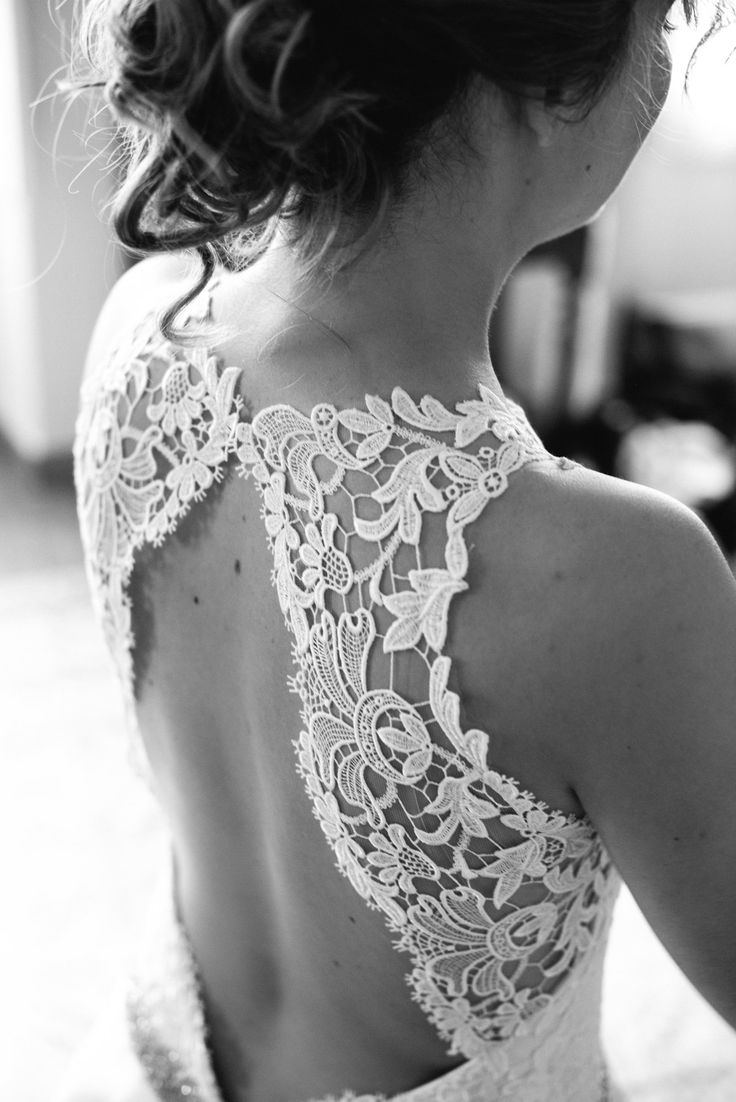Open back wedding dress, lace. KADRIKA 2016. Just bought a dress with an open lace back similar to this. Shall wear it for one of our date nights!