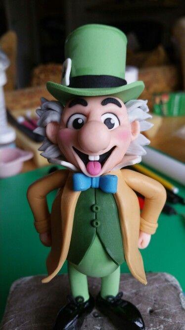 Fondant Mad Hatter Cake Topper - Alice in wonderland