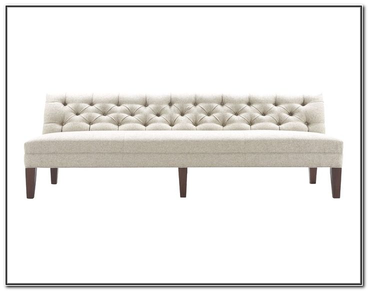 Long Upholstered Bench With Back 21554   Hoopsofly.com