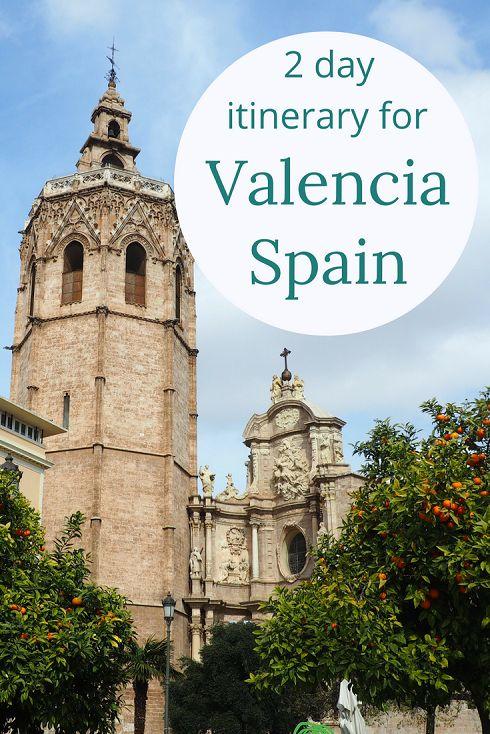 Adoration 4 Adventure's 2 day itinerary for Valencia, Spain exploring Mercado Central, Turia Gardens, City of Arts and Sciences, and Playa de la Malvarrosa.