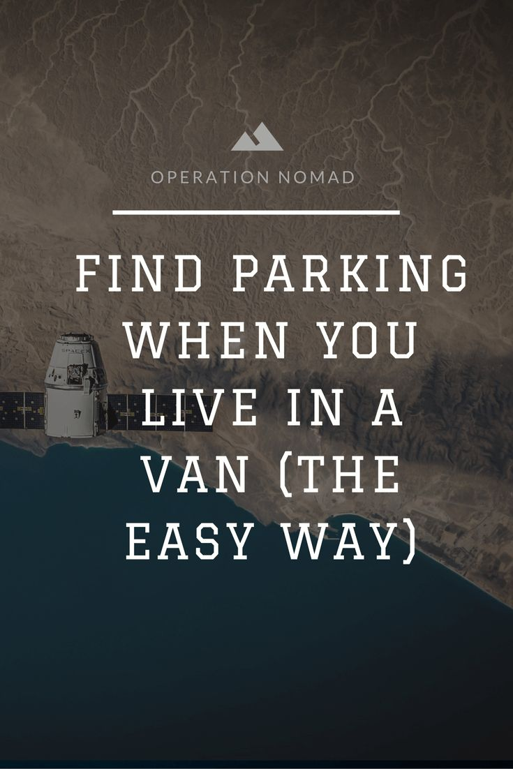 How Van Dwellers Can Find Parking The Easy Way