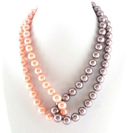 Collar de Perlas de Cristal. Enfilado a mano.. .So simple! Will work well with ropes of seeds too!!