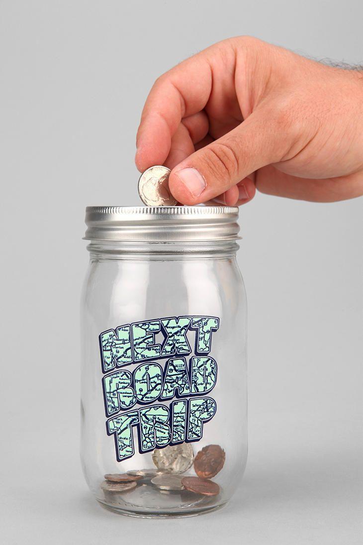 59 best money jar images on pinterest money jars mason for Mason jar piggy bank