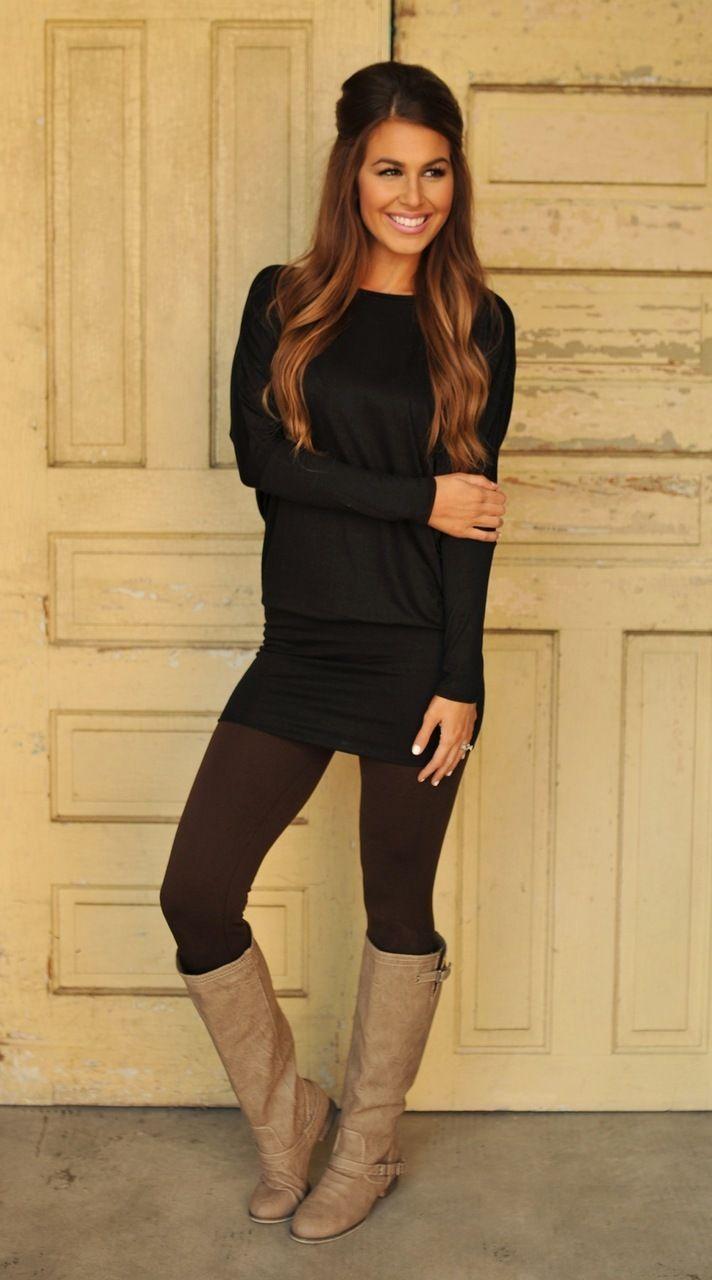 Dottie Couture Boutique - Banded Dolman Tunic- Black , $29.00 (http://www.dottiecouture.com/banded-dolman-tunic-black/)