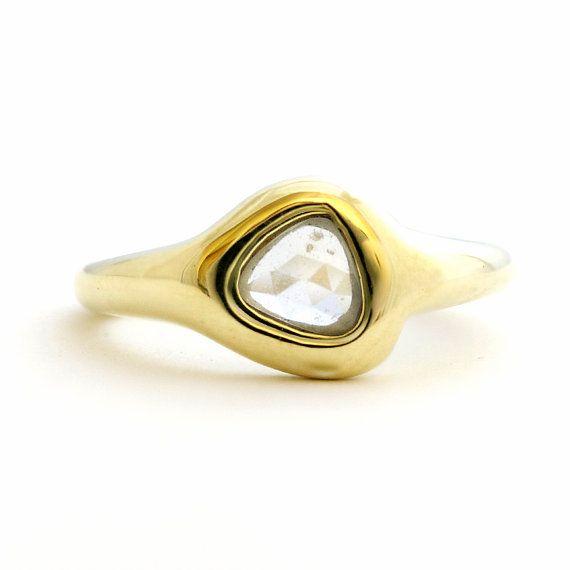 50 OFF  Rose Cut Sapphire and 14 Karat Gold by NatashaKahnDesigns, $375.00