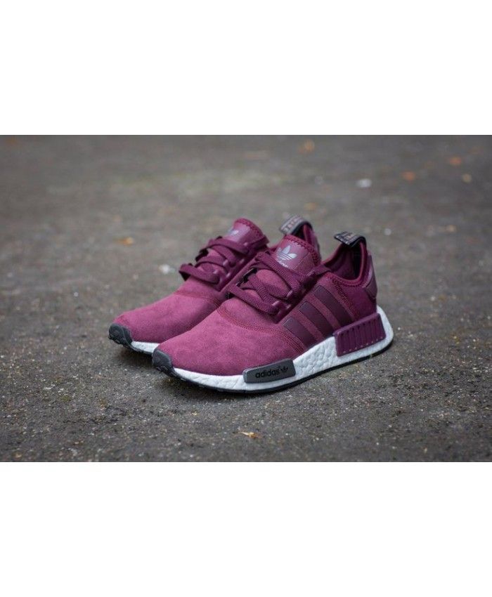 low priced 5ba57 3f366 Chaussure Adidas NMD R1 Bordeaux Gris Violet Maroon Gris Solide