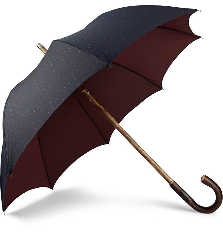 Francesco Maglia - Chestnut Wood-Handle Umbrella|MR PORTER