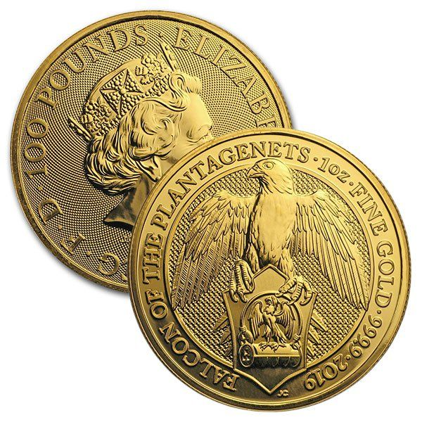 Buy 1 Oz British Gold Falcon Of The Plantagenets Coins The Queen S Beast Money Metals With Images Gold Coins Gold Coin Price Coins