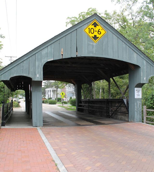 The (Somewhat) Historic Covered Bridge in Long Grove, Illinois