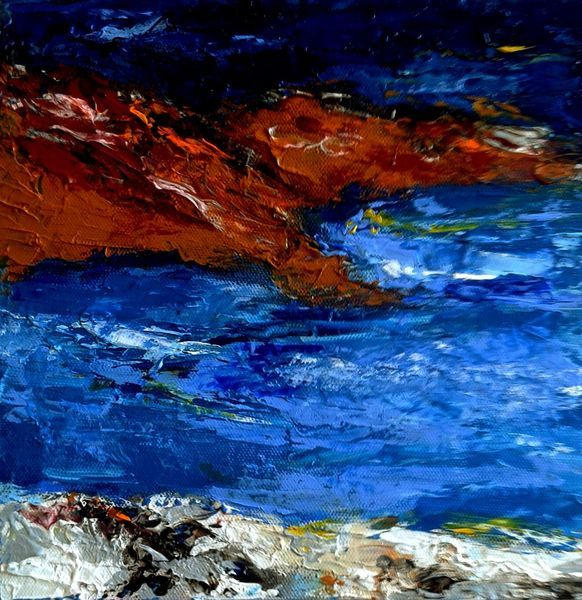 Küste, Meer, Strand, Mediterran, Süden, Farbkontraste