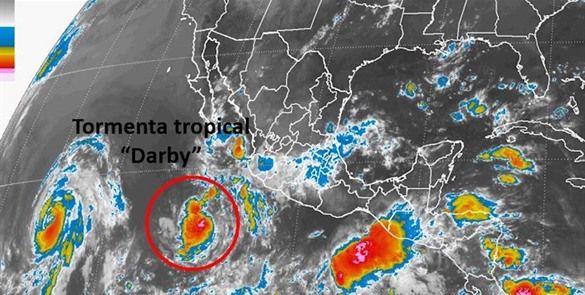 """Reportan formación de tormenta tropical """"Darby"""" en el Pacífico"""