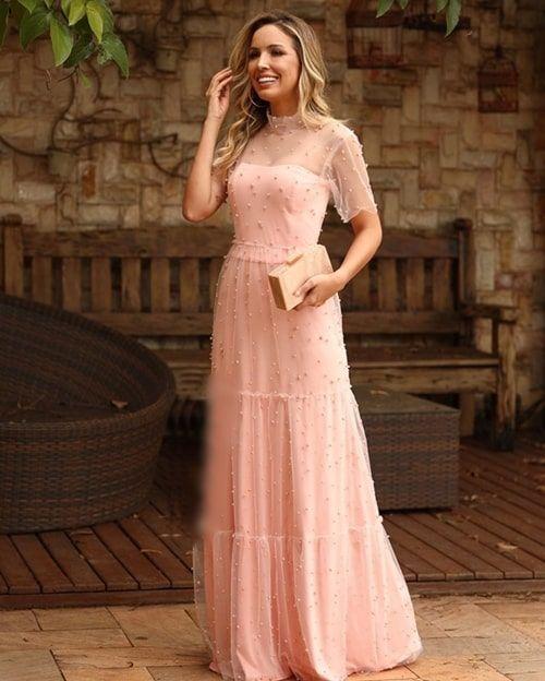5beafa6d8 Vestido rosa para madrinha 2019 : 25 longos! | Long gowns | Prom dresses,  Bridesmaid dresses e Dresses