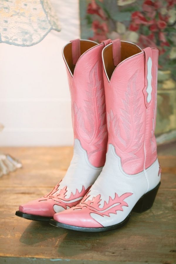 pink wedding boots // photo by LukeAndCat.com