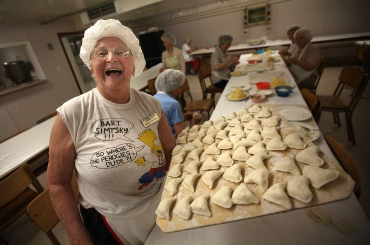 Perogy Club at St. Ivan Suchavsky Ukrainian Orthodox cathedral - Doris Skakun, 90, who has been making perogies there every week since 1967,...
