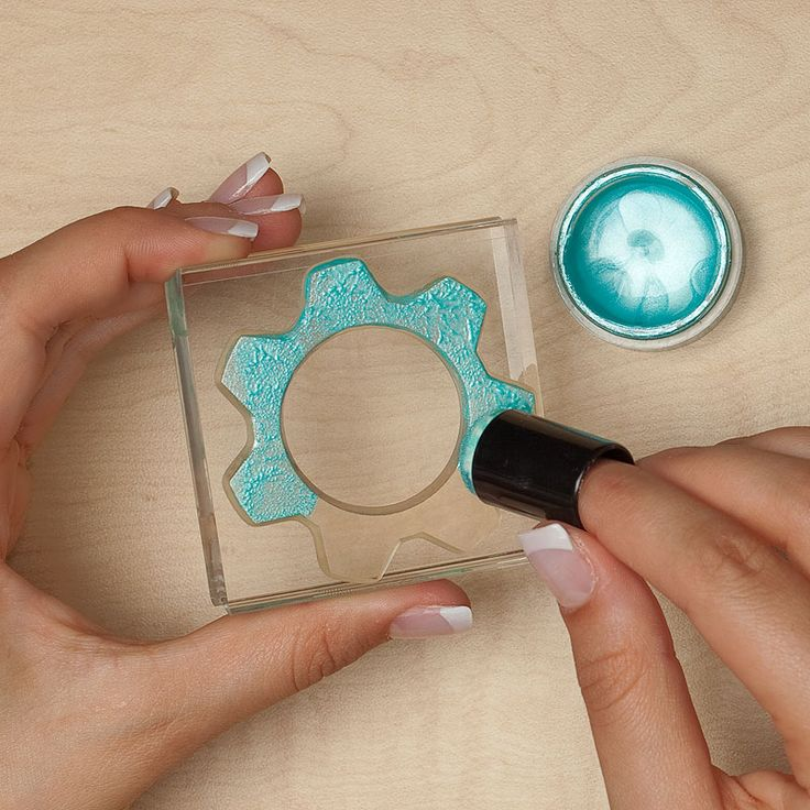 How to stamp with Pearl Paint. #CTMH