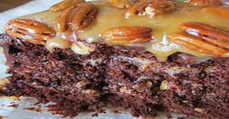 Homemade Chocolate Turtle Cake