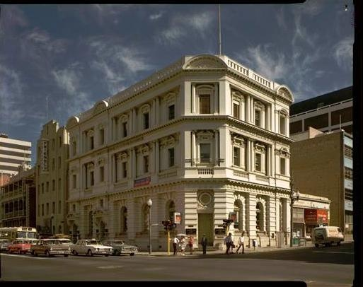 Commercial Bank of Australia building, 40 St George's Tce, cnr Barrack Street, Perth, 1968