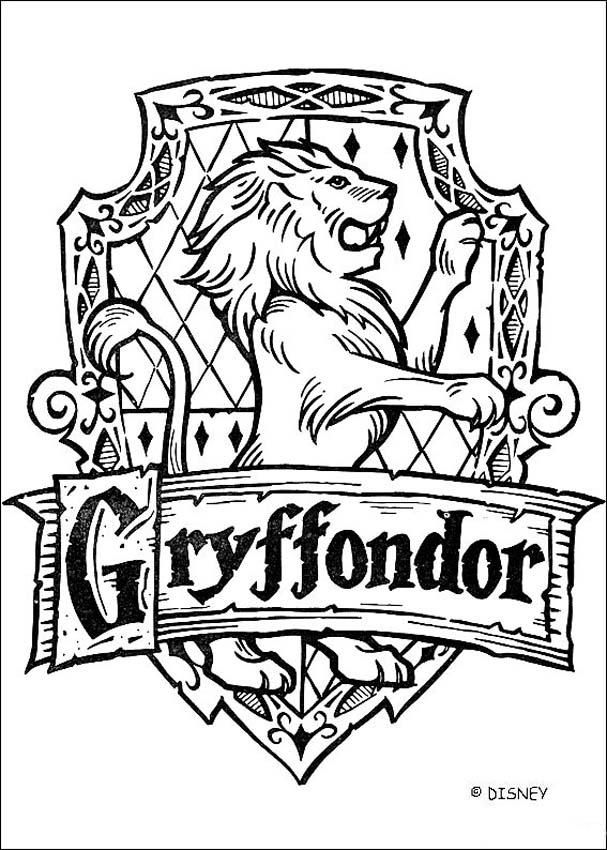 Coloriage Harry Potter : Le blason de Gryffondor                                                                                                                                                      Plus