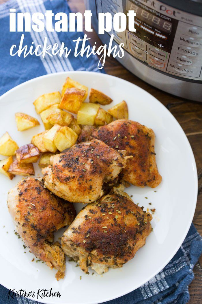 Easy Instant Pot Chicken Thighs With The Best Seasoning How To Cook Perfectly Moi Instant Pot Chicken Thighs Recipe Pot Recipes Boneless Chicken Thigh Recipes