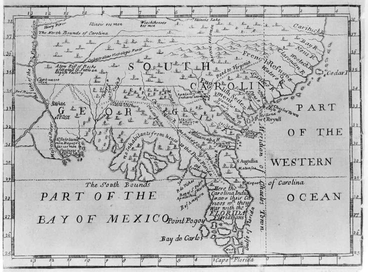 1732 Map Of Southeastern Us