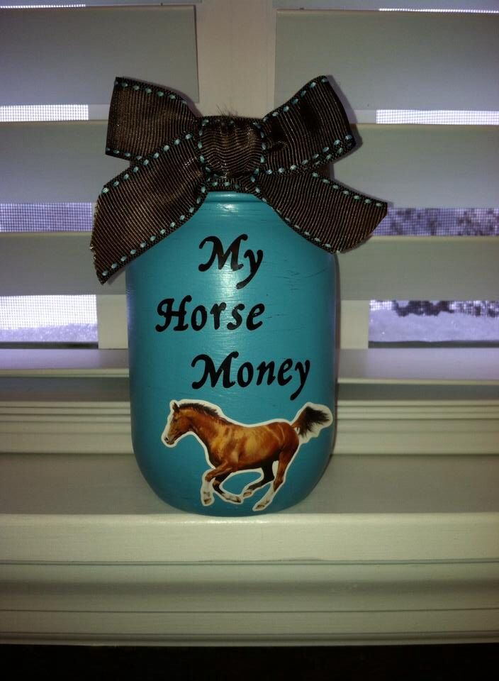 saving for a horsemason jar painted and add stickers an some - Horse Bedroom Ideas