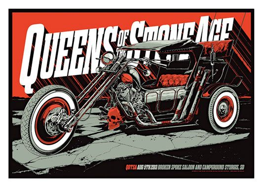 Queens of the Stone Age, Motorcycle Poster, available at 45x32cm. This poster is printed on matt coated 350 gram paper.