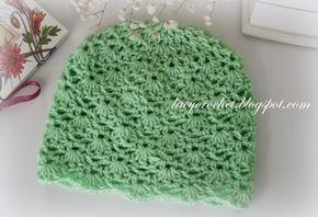 Lacy Crochet: Crochet Baby Hat Size 6 – 12 months, Advanced Level Free Pattern